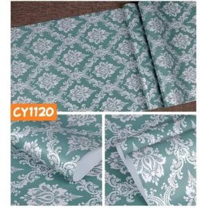 Harga grosir murah wallpaper sticker dinding hijau motif batik abu | HARGALOKA.COM