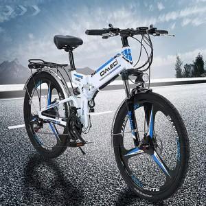 Harga sepeda mtb lipat listrik omeci nx 300w 48 v 12 8 ah   hitam merah ban 24 | HARGALOKA.COM