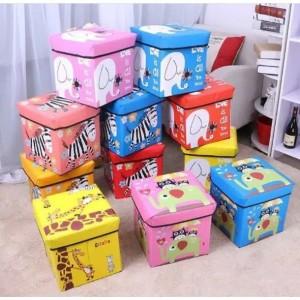 Harga 335 animal storage box tempat mainan majalah dll kursi organizer   pink gajah | HARGALOKA.COM