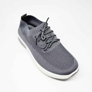 Harga sepatu impor sneakers pria cowok bertali flyknit casual sport f08   abu abu | HARGALOKA.COM