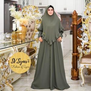 Harga setelan baju gamis wanita muslimah zoya syari set ity crep terbaru | HARGALOKA.COM