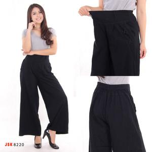 Harga terlaris celana kulot panjang jeans denim modis trendy wanita | HARGALOKA.COM