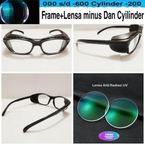 Harga kacamata frame safety classic retro free lensa minus antiradiasi   HARGALOKA.COM