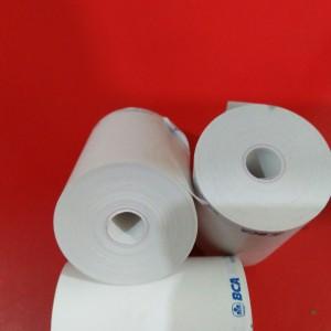 Harga kertas thermal edc ukuran 58x40mm logo bank bca tanpa | HARGALOKA.COM