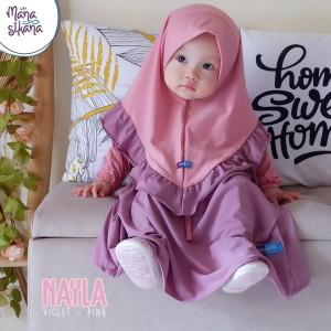 Harga baju gamis anak perempuan baju muslim anak perempuan original   size no 1 pink   | HARGALOKA.COM