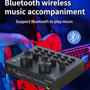 Harga bluetooth audio usb external soundcard live broadcast v8s   HARGALOKA.COM