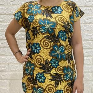Harga atasan santai batik wanita motif bunga   | HARGALOKA.COM