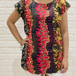 Harga baju batik wanita motif daun   | HARGALOKA.COM