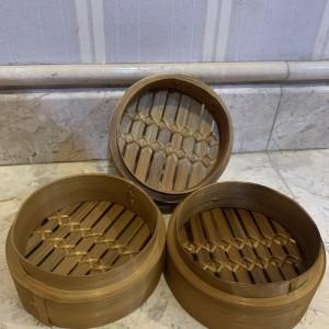 Harga tempat dimsum klakat bambu klakat bambu dimsum 13 cm wadah saja   | HARGALOKA.COM