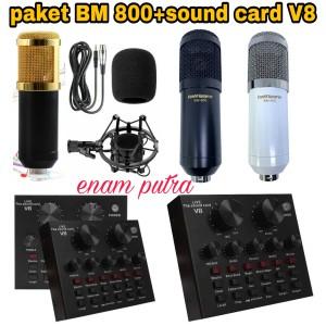 Harga paket mic taffware bm 800 sound card v 8   | HARGALOKA.COM