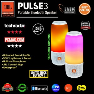 Harga jbl pulse 3 wireless bluetooth with ipx7 waterproof speaker original   | HARGALOKA.COM