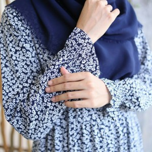 Harga baju home dress muslim rayon khalina fashion khadijah navy terlaris   navy | HARGALOKA.COM