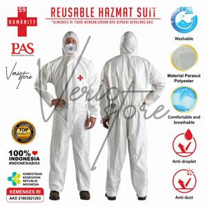 Harga promo grosir  baju apd hazmat suit kemenkes reusable bisa cuci white   | HARGALOKA.COM