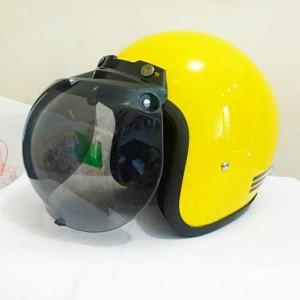 Harga helm bogo kuning glossy garis dengan kaca | HARGALOKA.COM