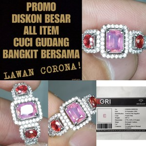 Harga batu sapphire ceylon pink dan orange sapphire songea memo gri | HARGALOKA.COM