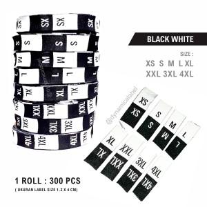 Harga label size pakaian hitam putih   size label | HARGALOKA.COM