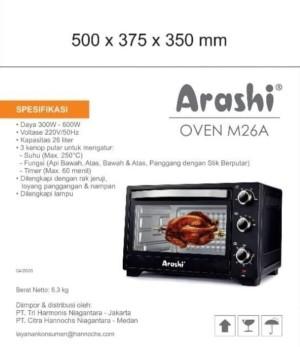 Harga oven listrik murah 26 liter oven arashi m26a kompor oven arashi | HARGALOKA.COM