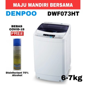 Harga mesin cuci denpoo 1 tabung dwf 073 ht top loading 6 kg | HARGALOKA.COM