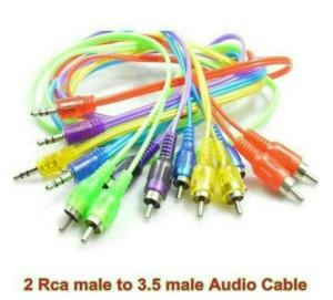 Harga kabel aux audio 2 in 1 hp ke speaker jack 3 5mm cable 1 | HARGALOKA.COM