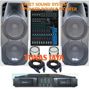 Harga paket sound system speaker double woofer mixer yamaha 12   HARGALOKA.COM