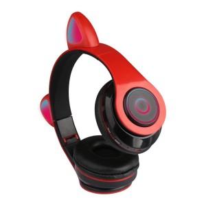 Harga new earcat led ct 86 headphones with built in mic bluetooth wireless   | HARGALOKA.COM