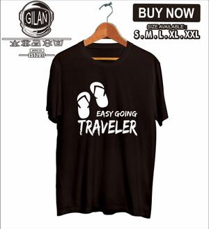 Harga kaos baju easy going traveler pendaki gunung simply adventure   | HARGALOKA.COM
