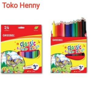Harga pensil warna classic greebel 24 | HARGALOKA.COM