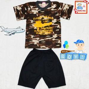 Harga setelan baju oblong doreng anak kode 2025   | HARGALOKA.COM