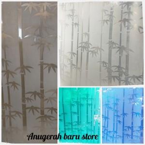 Harga fiber pagar plastik penutup pagar motif bambu lite     HARGALOKA.COM