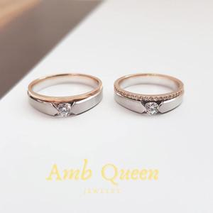 Harga cincin nikah tunangan palladium dan emas kadar 75 wanita dan | HARGALOKA.COM