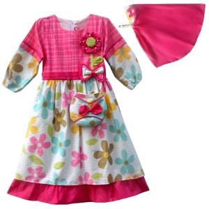 Harga two mix baju muslim anak   gamis anak perempuan   pakaian muslim 4030   salem | HARGALOKA.COM