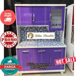 Harga promo lemari piring lemari sayur rak piring minimalis full duco | HARGALOKA.COM