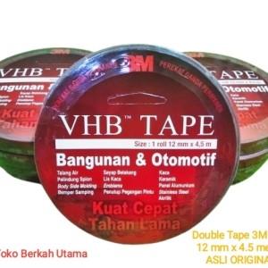 Harga double tape 3m vhb 12 mm x 4 5 meter asli | HARGALOKA.COM