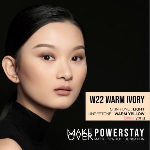Harga make over powerstay matte powder foundation makeover   w22 warm | HARGALOKA.COM