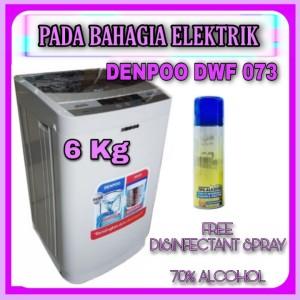 Harga mesin cuci 1 tabung denpoo dwf 073 ht top loading 6 kg   HARGALOKA.COM