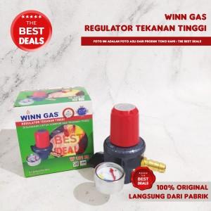 Harga winn gas regulator penghemat gas tahan tekanan tinggi   no karet | HARGALOKA.COM