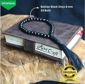 Harga tasbih batu 33 batu akik hitam black onyx onix asli alam | HARGALOKA.COM