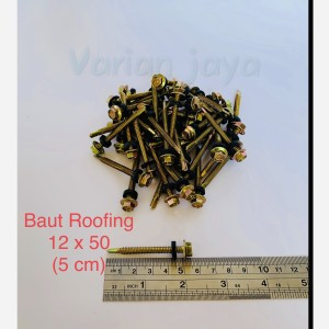 Harga baut roofing 12 x 50 5 cm baut baja ringan | HARGALOKA.COM