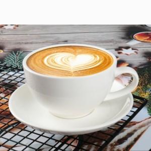 Harga cangkir latte dan saucer 6pcs art porcelain cup saucer white kp03 | HARGALOKA.COM