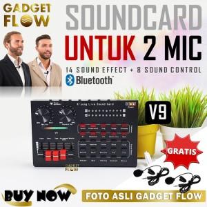 Harga sound card soundcard recording 2 mic dual channel mixer podcast   | HARGALOKA.COM