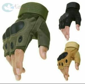 Harga sarung tangan tactical sepeda motor airsoft outdoor half     HARGALOKA.COM