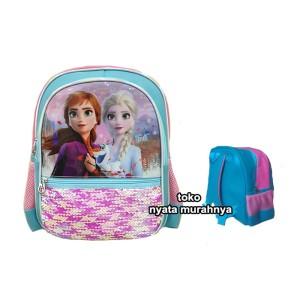 Harga tas ransel sekolah anak sequin hologram uk tk   frozen 7776   HARGALOKA.COM