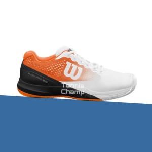 Harga sepatu tenis wilson rush pro 3 0 white orange tennis | HARGALOKA.COM
