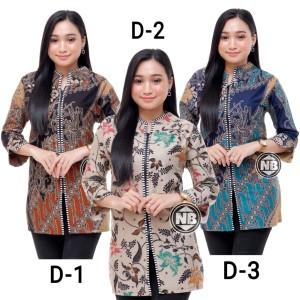 Harga baju batik wanita blouse seragam kerja   d 3 | HARGALOKA.COM
