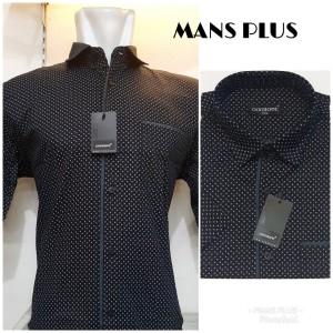 Harga kemeja besar pria jumbo bigsize xxl xxxl atasan casual formal q61   hitam | HARGALOKA.COM