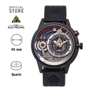 Harga jam tangan electricianz the dark z skeleton steel black | HARGALOKA.COM