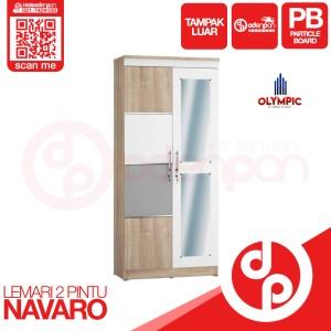 Harga lemari pakaian baju 2 pintu olympic navaro   free ongkir odenpan | HARGALOKA.COM