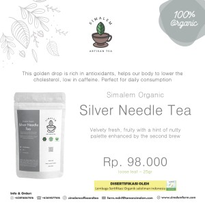Harga teh organik silver needle premium white tea teh putih | HARGALOKA.COM