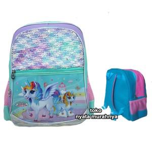 Harga tas ransel sekolah anak sequin hologram uk sd kuda unicorn 7777   HARGALOKA.COM