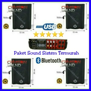 Harga paket speaker 4pcs crimson 4 inch cr 402 paket sound system   HARGALOKA.COM
